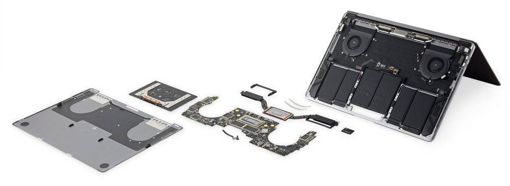 Macbook disassembled awaiting repair